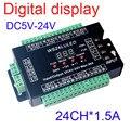 LED RGB контроллер DMX512 8 groepen Digitale дисплей 24CH DMX адрес Контроллера, DC5V-24V, эльке CH Макс 3A