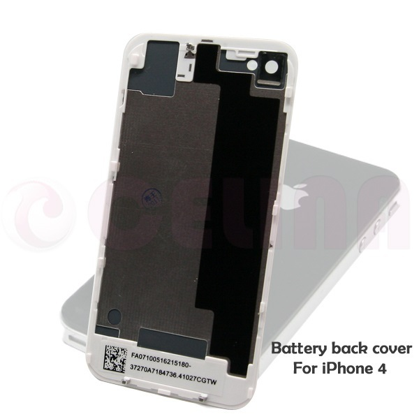 White Glass Battery Door Housing Back Cover  Replacement For iPhone 4 ,W/ Frame Free Shipping+Tracking