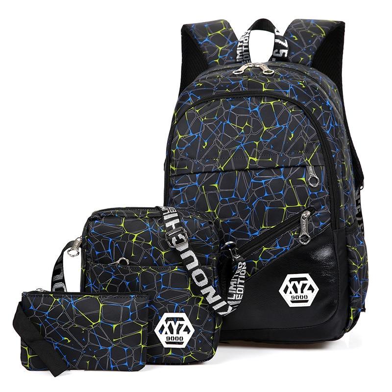 3 pcs/sets High Quality Canvas School Bag Fashion School Backpack for Teenagers Girls schoolbags kid backpacks mochila escolar 2016 fashion canvas backpacks sports bag high quality backpacks teenagers outdoor boy
