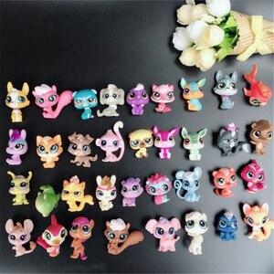 Image 2 - 20 יח\חבילה בעלי החיים צעצוע קטן לחיות מחמד פעולה דמויות צעצועי Littlest בעלי חיים חנות חמוד חתול כלב patrulla canina פעולה דמויות ילדים צעצועים
