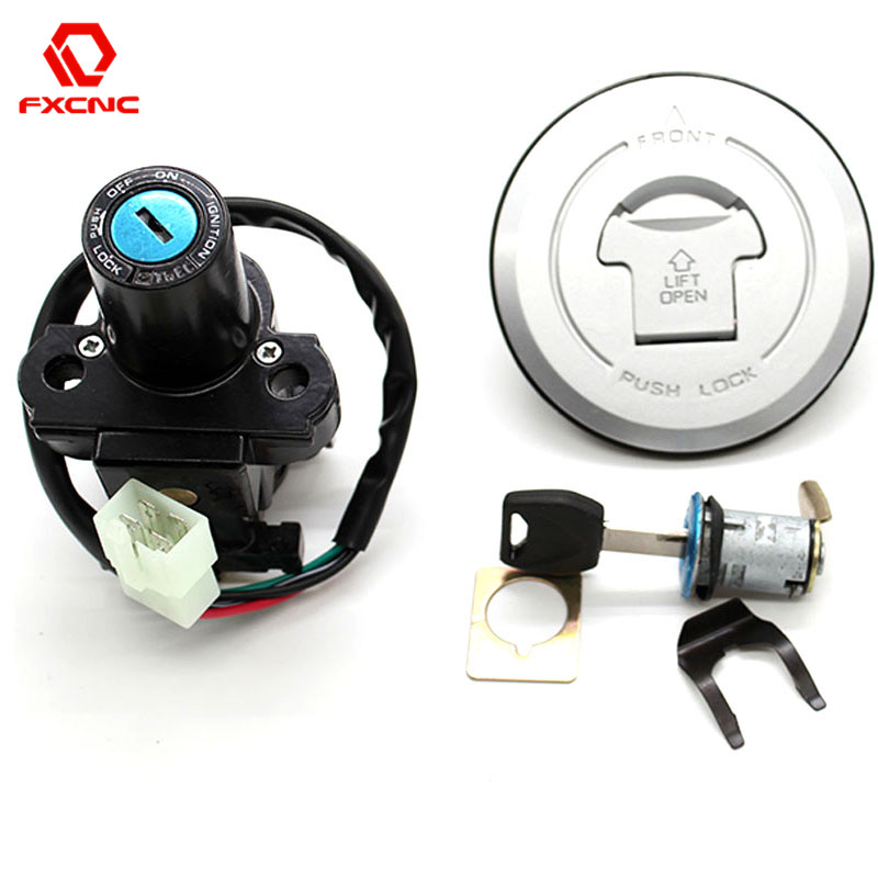 8294cceb65bb FX CNC Motorcycle Ignition Switch Fuel Gas Cap lock+Ignition Switch ...