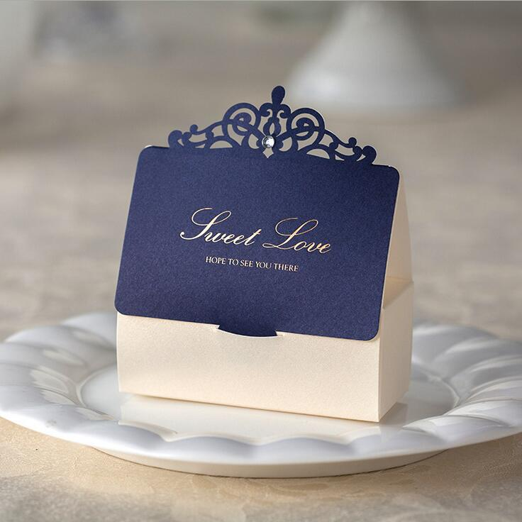 Clic 12pcs Royal Blue Laser Cut Wedding Favor Bo Candy Box Casamento Favors Gifts Event Party Supplies In Gift Bags Wring From
