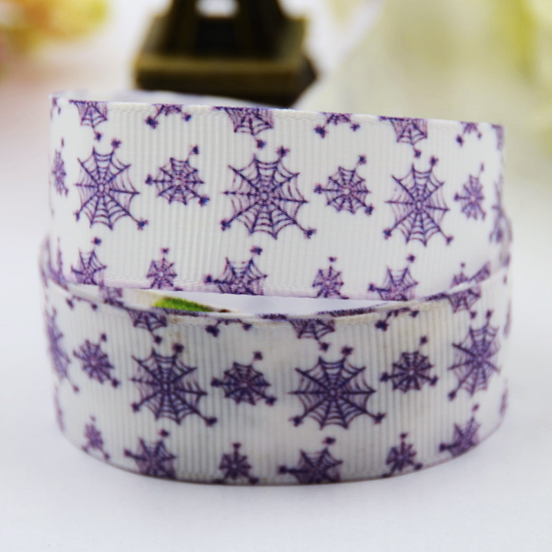 Lower Price with 7/8 Halloween Spider Web Cartoon Character Printed Grosgrain Ribbon Party Decoration Satin Ribbons X-00480 10 Yards Promote The Production Of Body Fluid And Saliva 22mm