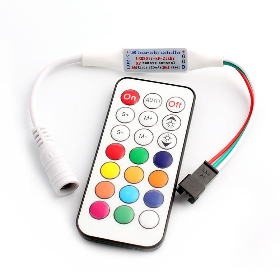 WS2812B WS2811 LED RGB Controller Remote Strip 21 Keys RF Ws2812 RGB Light WS2811 WS2812B Led RGB Controller Remoter