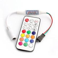WS2812B WS2811 LED RGB denetleyici uzaktan şerit 21 tuşları RF ws2812 RGB ışık WS2811 WS2812B Led RGB denetleyici uzaktan