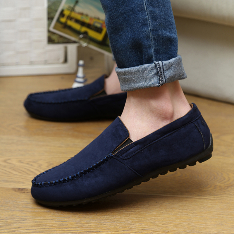 Spring peas shoes canvas one pedal lazy