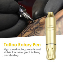 Tattoo Pen Rotary Tattoo Machine & Permanent Makeup Pen Motor Cartridges Pen for Tattoo Artists(China)