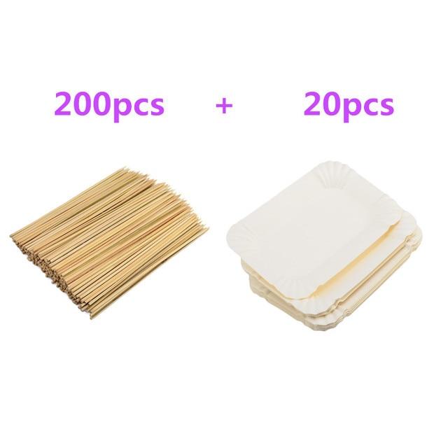 20 Stucke Einweg Rechteckigen Geschirr Papier Platten 200 Stucke