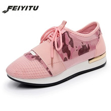 feiyitu  New 2018 Spring Fashion Women Casual Shoes Pu Leather Platform shoes Sneakers Ladies Trainers Chaussure Femme