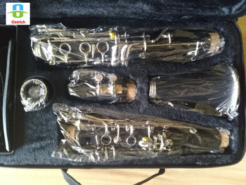 New Professional Eb Clarinet 17 Keys Bakelite Body Nickel Keys with Case Accessories
