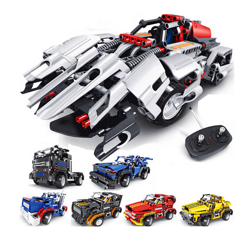 2 in i Educational DIY Remote Contronl RC Assembling Building Block Car Vehicle Model Toys for kids Children's Day gift 3d puzzle diy assembling car toys justice dawn batman batmobile metal model creative gift diy educational kids toys