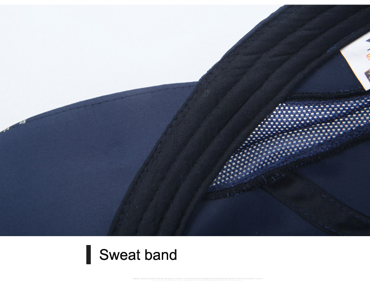Striped Brim Sporty Baseball Cap - Sweat Band View