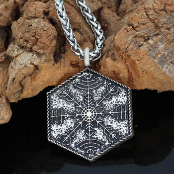 Helm Of Awe Amulet Norse Viking Odin Symbol Pendant Necklace  Viking Necklace