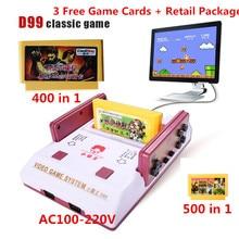 2017 Nueva Consola de Videojuegos Clásicos Familia Subor D99 TV video consolas de juegos jugador con 400 IN1 + 500 IN1 juegos de cartas para elegir