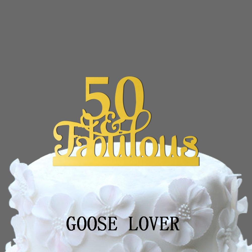 50th Und Fabulous Kuchen Topper 50th Geburtstag Kuchen Dekoration