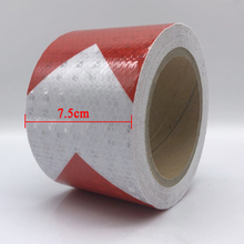 7.5cmx30m  Safety Reflective Warning Tape Conspicuity Film Sticker for car цена 2017