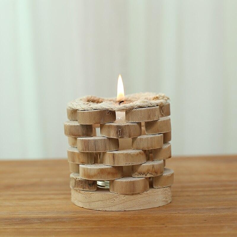 Heart Gl Hanging Tealight Holder Wood Tea Light Candle Planter Wedding Decor