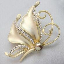 Moda Chapéus de Strass Acessórios Da Camisa Mulheres Mais Recentes Da Moda Asas de Anjo Broche Pins para Meninas Vestido XZ085