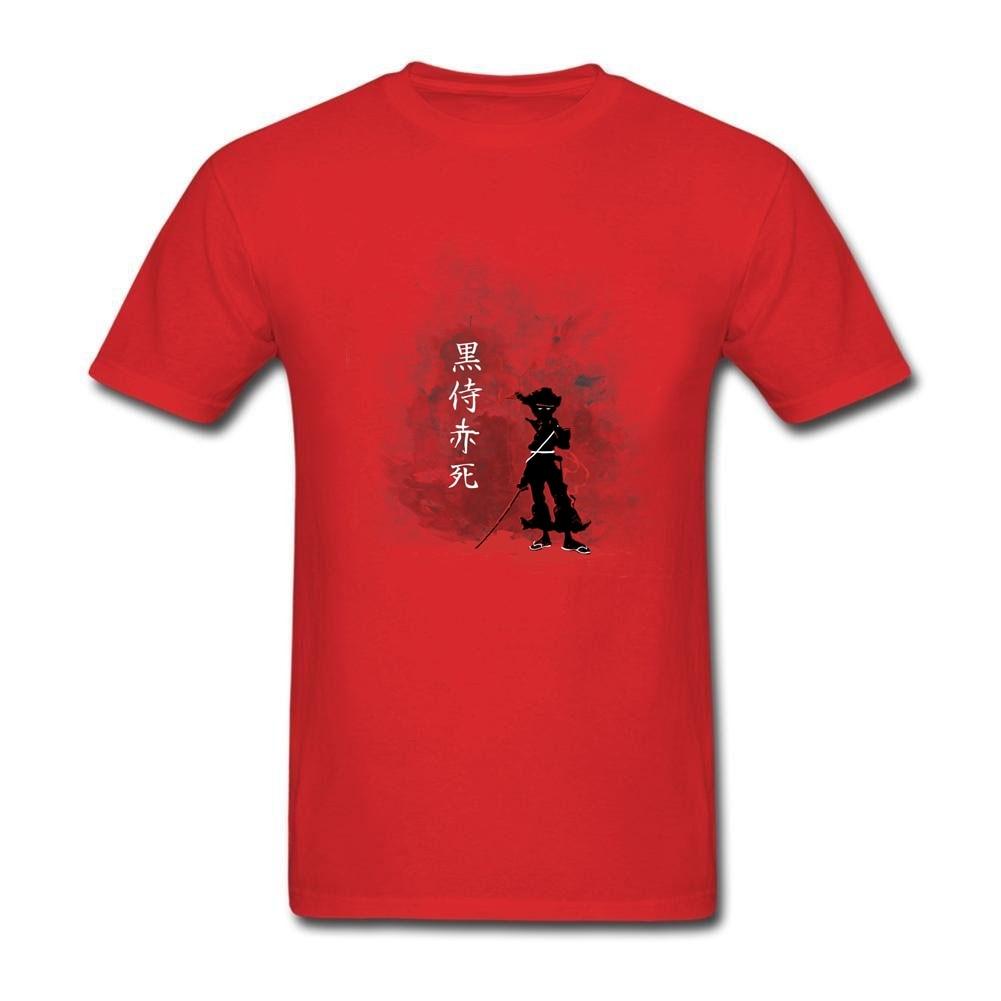 Shirt design buy - T Shirt Designer Online Black Samurai Red Death Custom Cotton Short Sleeve Mans Personalized T Shirt