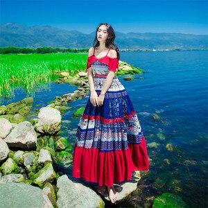 Image 3 - ใหม่คุณภาพสูงระเบิด Vintage Vintage Elegant Party Dresses ผู้หญิง Patchwork ฤดูใบไม้ผลิฤดูร้อนชุดลำลอง