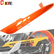 For KTM RC125 RC 200 390 2014 2015 2016 CNC Aluminum Motorcycle Accessories Chain Guard Cover Protector Orange