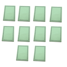10pcs Bag Bottoms for Knitting Patent Leather Accessories Rectangle Candy Colors Green DIY Handmade Bags Bottom 16x11cm