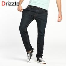 Drizzte Brand Men Jeans Size 28 to 42 Black Blue Stretch Denim Slim Fit Men Jean for Man Pants Trousers Jeans
