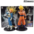 Anime Dragon Ball Z Goku Vegeta Resolução de Soldados Vo1.1 PVC Action Figure Modelo Toy presente de Natal 19 cm-21 cm