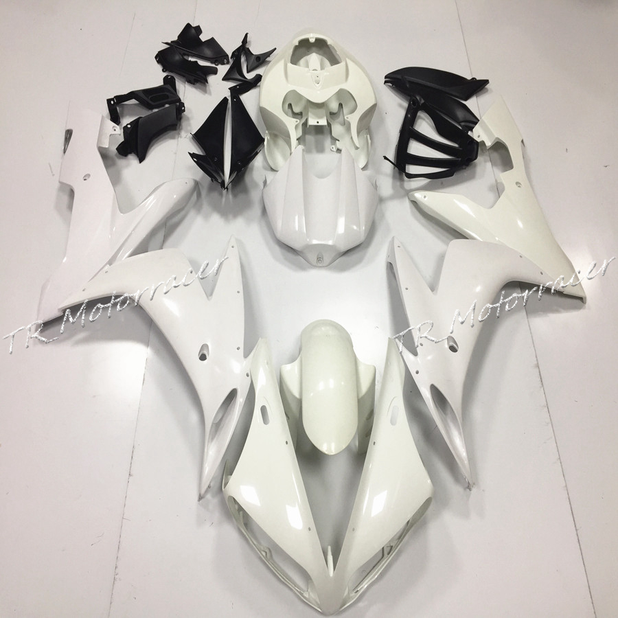 Unpainted White Injection Fairing Bodywork Kit For Yamaha YZF R1 2004 2005 2006 Motorcycle Accessories wotefusi black motorcycle injection mold bodywork motorcycle fairing for 2004 2005 2006 yamaha yzf1000 r1 04 05 06 3 [ck813]