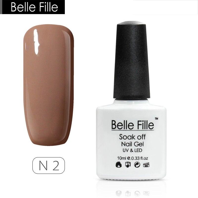 Belle Fille Nude Colors Nail Gel Polish Nail Varnish Manicure Gel Professional Nails Gel Brown Kahki Color Soak Off Gels