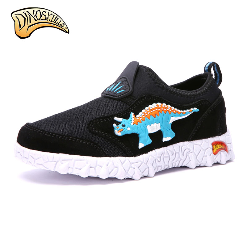Dinoskulls kids mesh sneakers Summer Breathable Air Mesh Kids Shoes Boys Sport Sneakers 3D Dinosaur Shoes Spring Casual Shoes adidas samoa kids casual sneakers