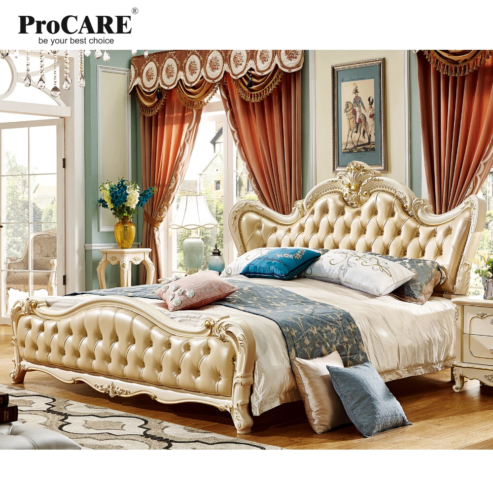 . US  2277 0  luxury European and American style Nobility bedroom furniture  with TV stand royal home furniture sets sliding door wardrobe in Bedroom