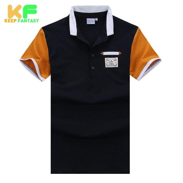 Твердые мужчины рубашки поло мода марка - качество одежды с отложным воротником с коротким рукавом хлопок поло Homme Camisas Masculina MPTS1517