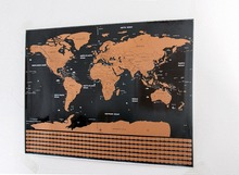 High quality Large Deluxe Erase Black scratch map world wall sticker Decoration Scratch Poster europe scratch map 59X83 CM