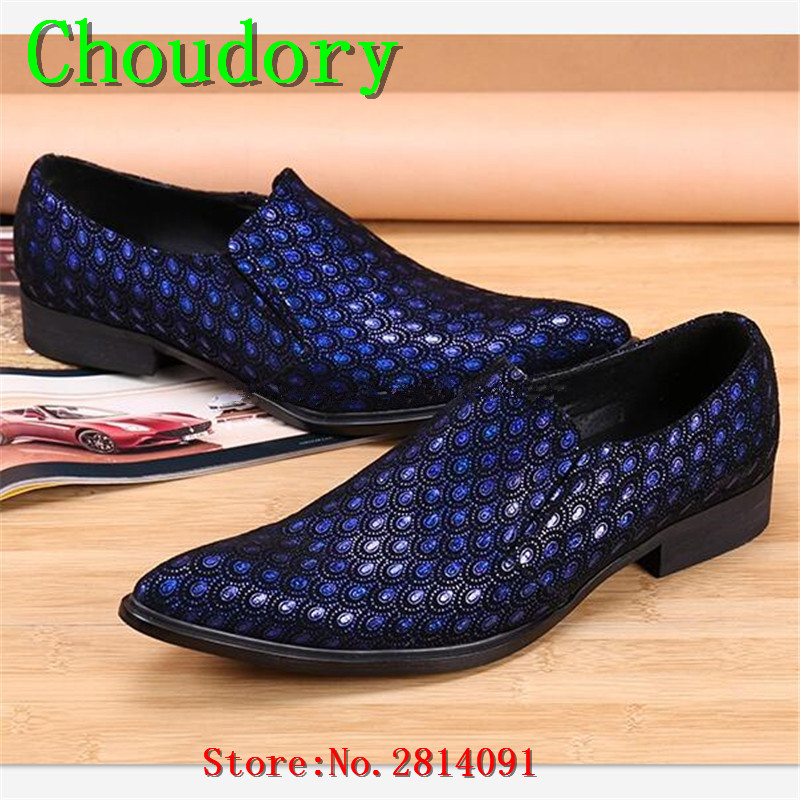 Choudory Pointed Toe Height Increasing Breathable Men Shoes Casual Fluorescent Light Solid New Fashion Spring Autumn Men Loafers