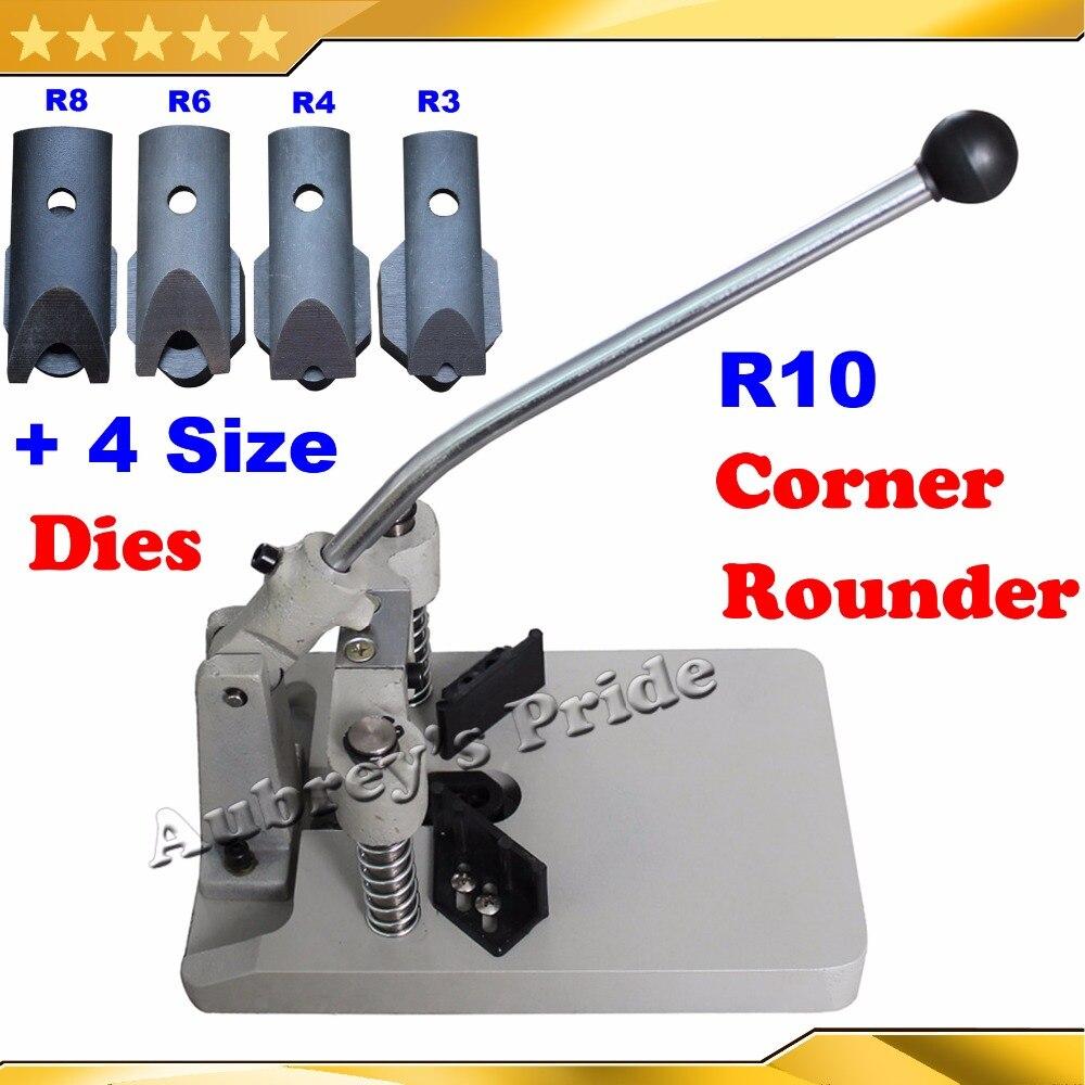 """Esquina redondo punzón cortador Pesado de escritorio R10 R3 R4 R6 R8 4 hojas de morir 3//8/"""""""