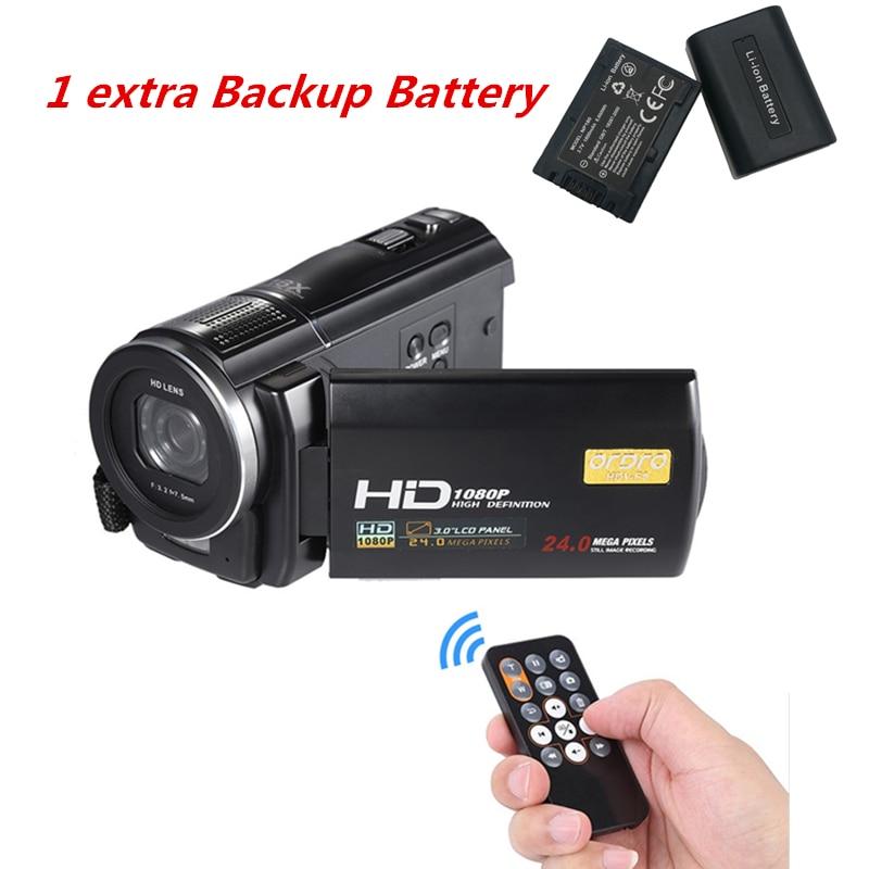1080P Full HD Цифровая камера 24MP Профессиональный видеорегистратор рекордер CMOS 16X фото камера с резервным аккумулятором