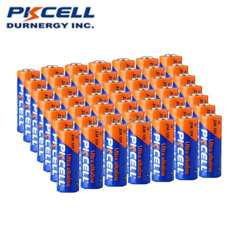 60Pcs 12V 23A Super Alkaline Dry Battery for Doorbell alarm remote control etc 105h Capacity