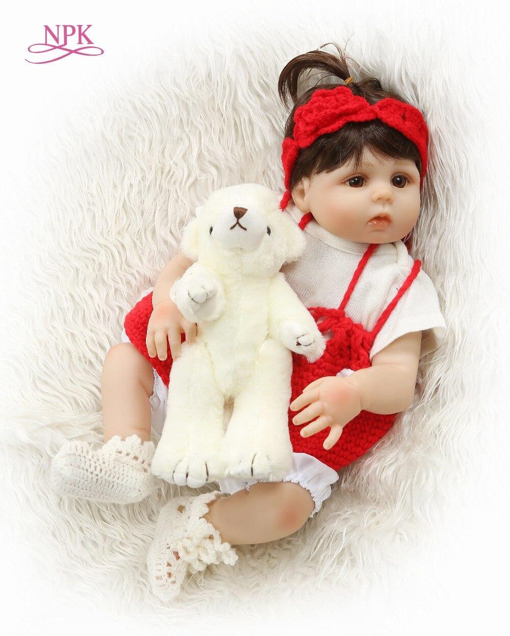 NPK Bebes Reborn Dolls 48CM Reborn Baby Doll Full Vinyl Silicone Newborn Baby Doll bonecas Whole