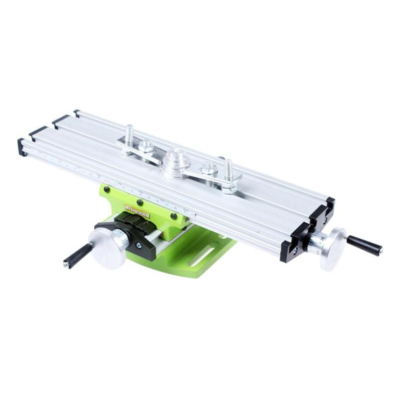 Precision Milling Machine Miniature Worktable Bench Vise Fixture Drill Milling Machine X and Y axis Adjustment