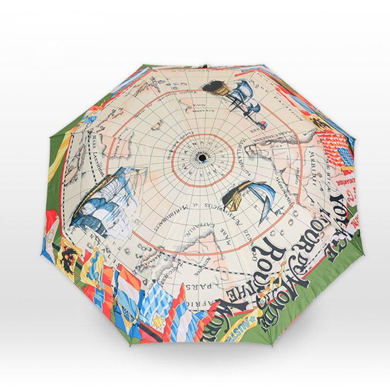 Навигационной карты зонтик карта мира холст зонтик творческий парусный солнце дождь карандаш зонтик творческий зонтик