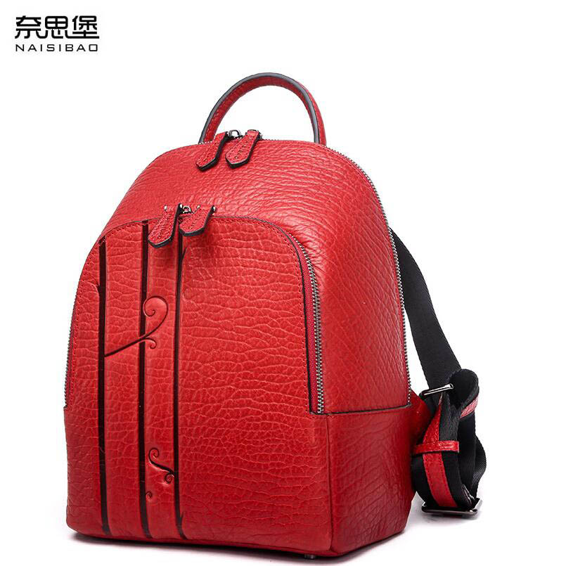 2018 New women leather bag designer brand quality top leather embossed women backpack quality fashion women leather backpack top quality 2018 new fashion women 100