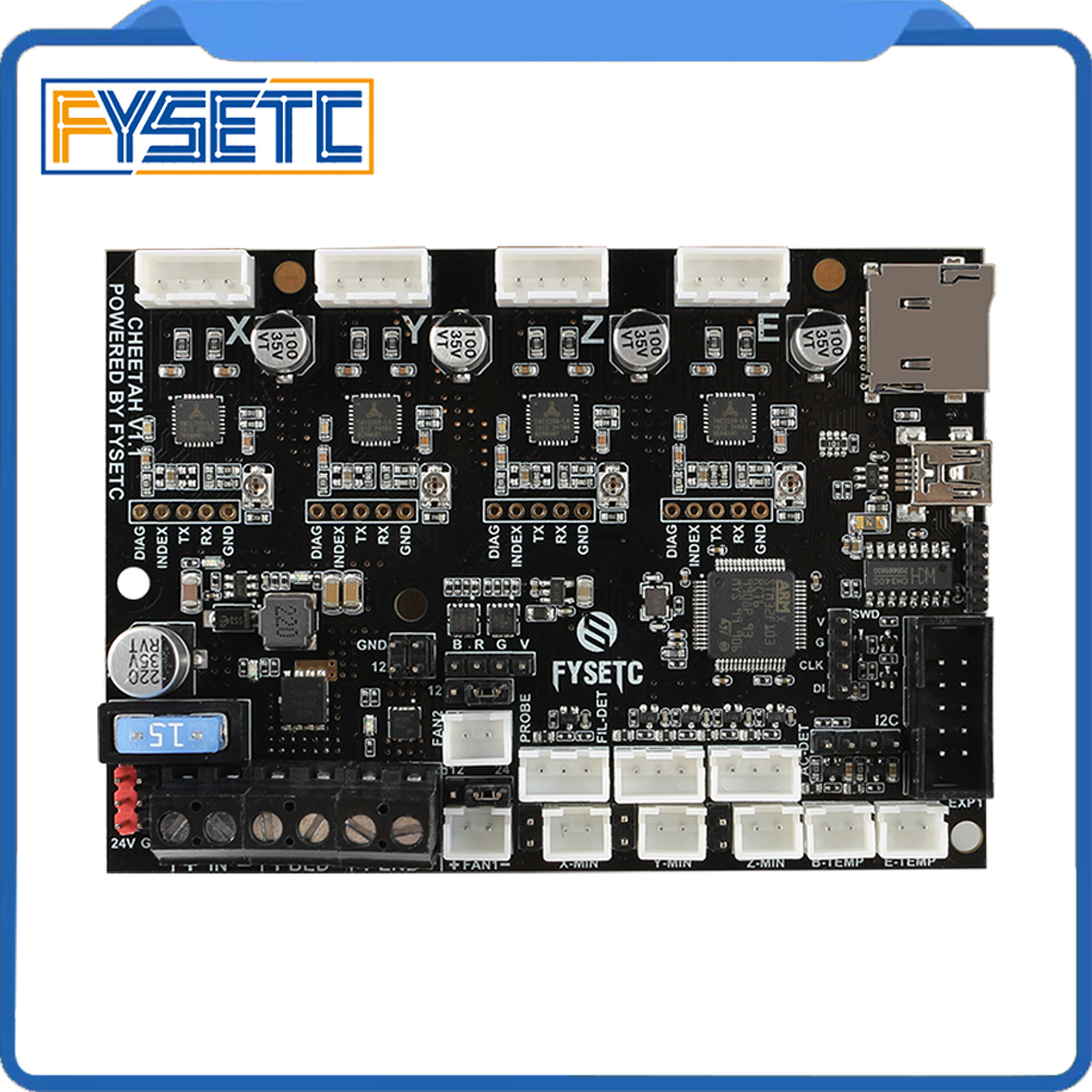 Cheetah V1.2a 32bit Board TMC2208 TMC2209 UART Silent Board Marlin 2.0 SKR mini E3 For Creality CR10 Ender 3 Ender 3 Pro Ender 5-in 3D Printer Parts & Accessories from Computer & Office