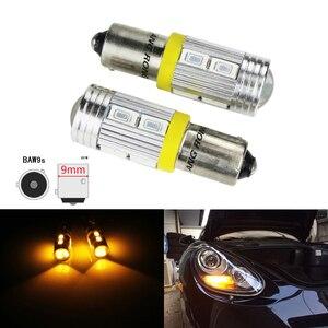 ANGRONG 2x ámbar BAW9s HY21W 10 SMD 5630, indicador LED de señal de giro, Bombilla de lámpara DRL