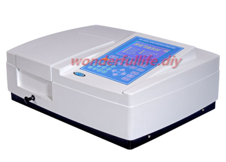 Large LCD display Ultraviolet/Visible Spectrophotometer Bandwidth 1.8nm Wavelength Range 190 1100nm UV 6000