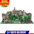 DHL LEPIN City Street Town Cafe Corner Fire Brigade Grand Emporium Green Grocer 15035 15034 15031 Blocks Building Kits Bricks