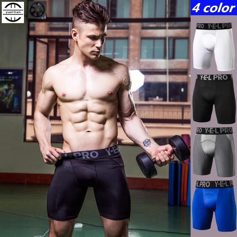 Men/'s Pro Compression Short Quick-dry Plain Gym Training Workout Boxer Tight fit