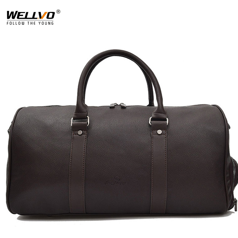 Matte PU Leather Bag Male Big Crossbody Bags For Duffle Unisex Handbags  Travel Shoulder Bag With 6b83612cacd18