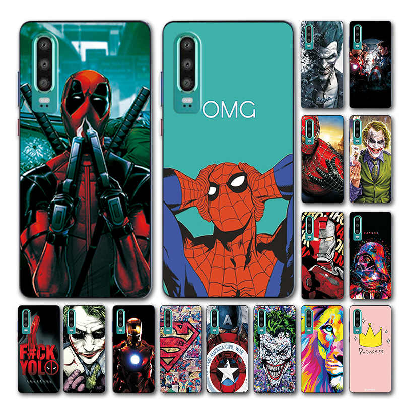 Novelty Phone Case For Huawei P30 Cover For Huawei P30 Honor 8C 8X Avengers TPU Case For Huawei P30 Lite Coque Fundas Y9 2019