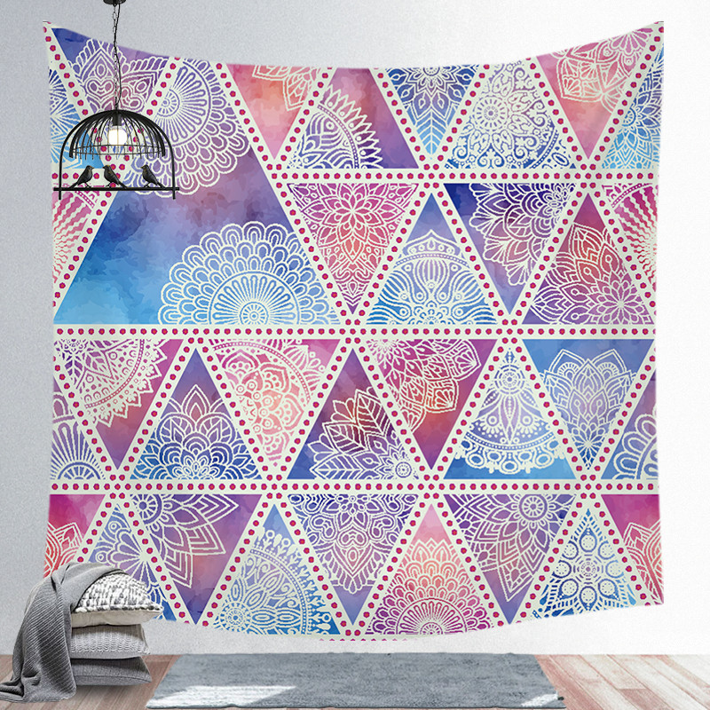 Mandala Background Hanging Colorful Tapestry Wall with Bohemian Hippie for Bedroom